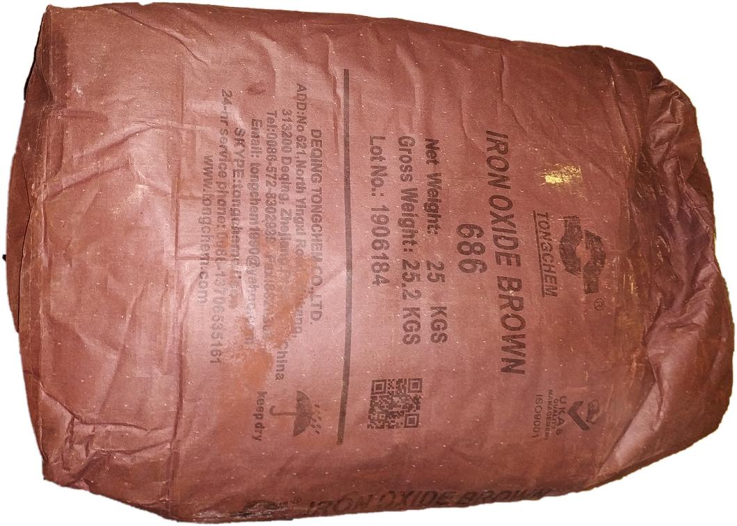 Пигмент коричневый китай для бетона